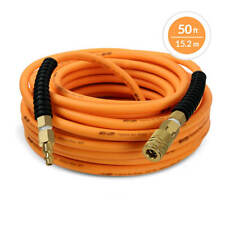DuraDrive 1/4 in. x 50 ft. Premium Hybrid Polymer Air Hose with Swivel Fitting