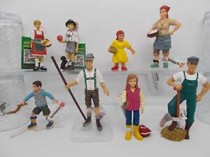 Schleich-Bullyland-Menschen-Figuren-zum-aussuchen-mit-Faehnchen-NEU