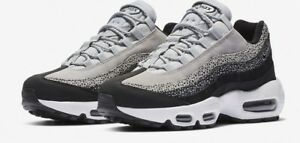 Details about New Women's Nike Air Max 95 PRM Size 6 807443 016 White Black Wolf Grey