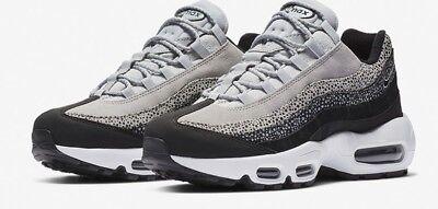 Nike Womens Air Max 95 PRM Black, Wolf Grey & White