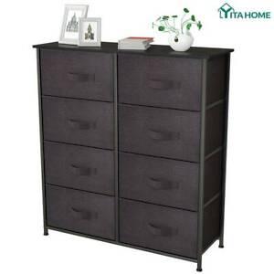 YITAHOME Dresser 8 Drawer Bedroom Storage Chest Organizer Closet Cabinet Fabric   EBay