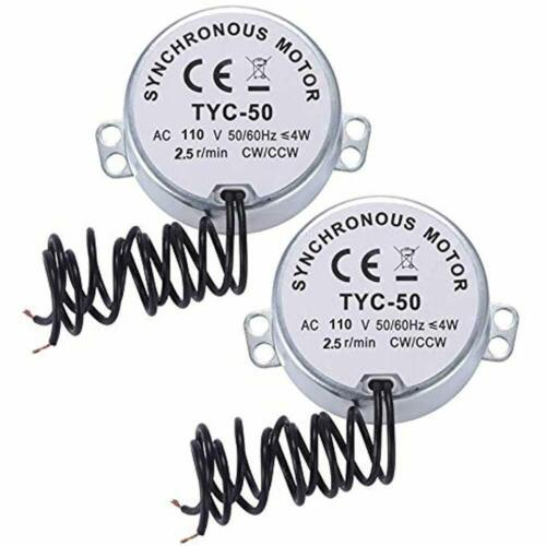 2 Pcs 2.5//3 RPM Electric Synchronous Turntable Motor AC 100V130V 50//60Hz For