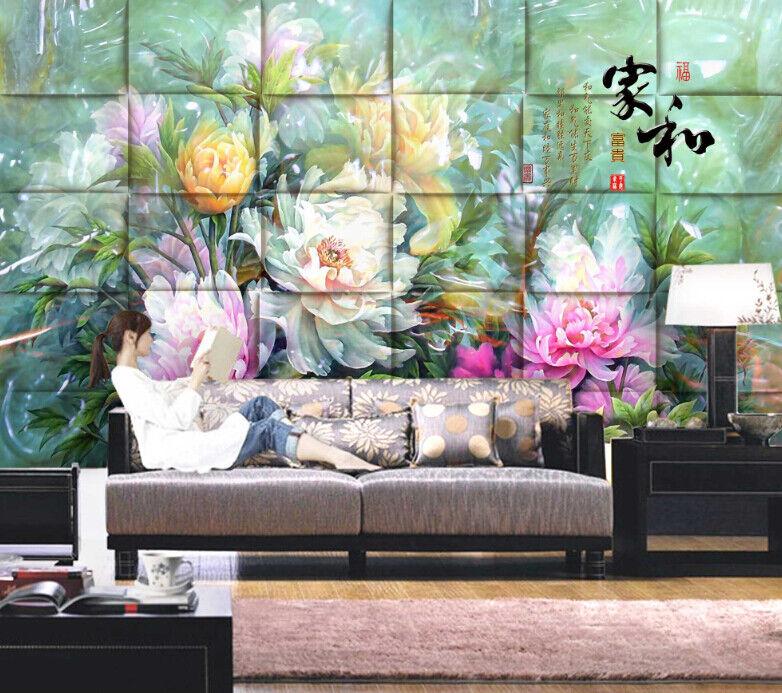 3D Pfingstrose Hintergrund 743 Tapete Wandgemälde Tapete Tapeten Bild Familie DE