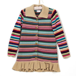 EUC-Colorful-Hanna-Andersson-Girls-Sweater-Jacket-Size-140cm-US-10
