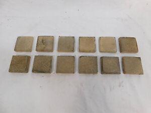 Twelve - U.S. Encaustic Tile Co. No. 5 2x2 Tiles - C. 1900 Architectural Salvage