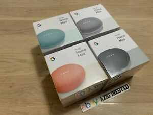 NEW-SEALED-Google-Home-Mini-Smart-Small-Speaker-CHALK-CHARCOAL-AQUA-CORAL