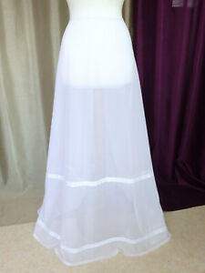 Analytique Jupon Vintage Robe De Mariée En Tulle Blanc Taille Fr38 Us6 Uk10 Eur36