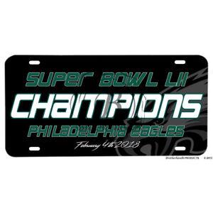 Super-Bowl-LII-Champions-Philadelphia-Eagles-2018-Aluminum-License-Plate