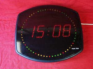 HORLOGE-MURALE-A-LED-MULTICOLOR-FUN-TEA-PENDULE-DESIGN-VINTAGE-OLD-CLOCK