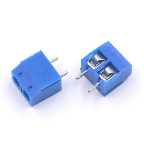 20 STK KF301-2P 5.08mm Pitch 2pin Plug-in  Screw Blue Terminal Block Connec O7I7