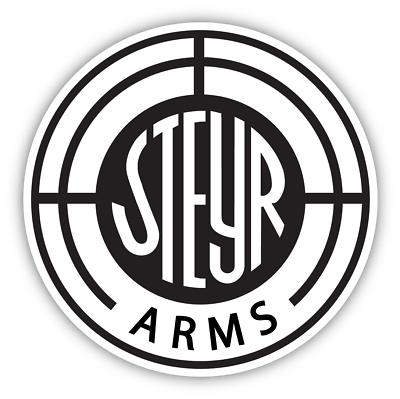 Steyr Arms Guns Vinyl Sticker Decal Car Bumper Truck Cornhole Man Cave Wall Red