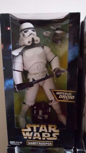 "Star Wars Emperor Palpatine Sandtrooper /& Stormtrooper  12/"" Figures  Vintage"