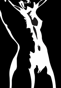 Black nude woman silhouette Naked Lady Silhouette Print Wall Art Nude Women Picture Erotic Art Ebay
