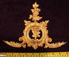 Antiguo Francés Luis Xv Dorado Oro Marco De Pared De Resina Dore Decoración de moldeo