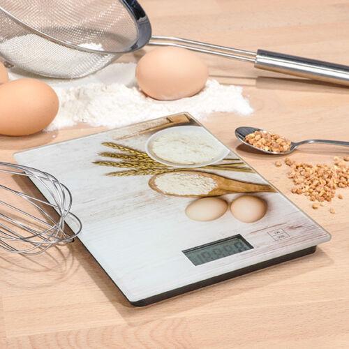 5kg Digitale Küchenwaage Waage Haushaltswaage mit Motiv 1g