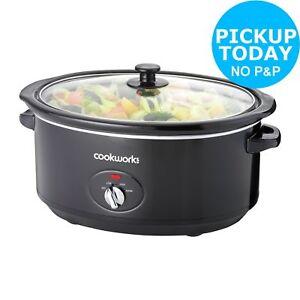 Cookworks-6-5L-320W-Slow-Cooker-Black