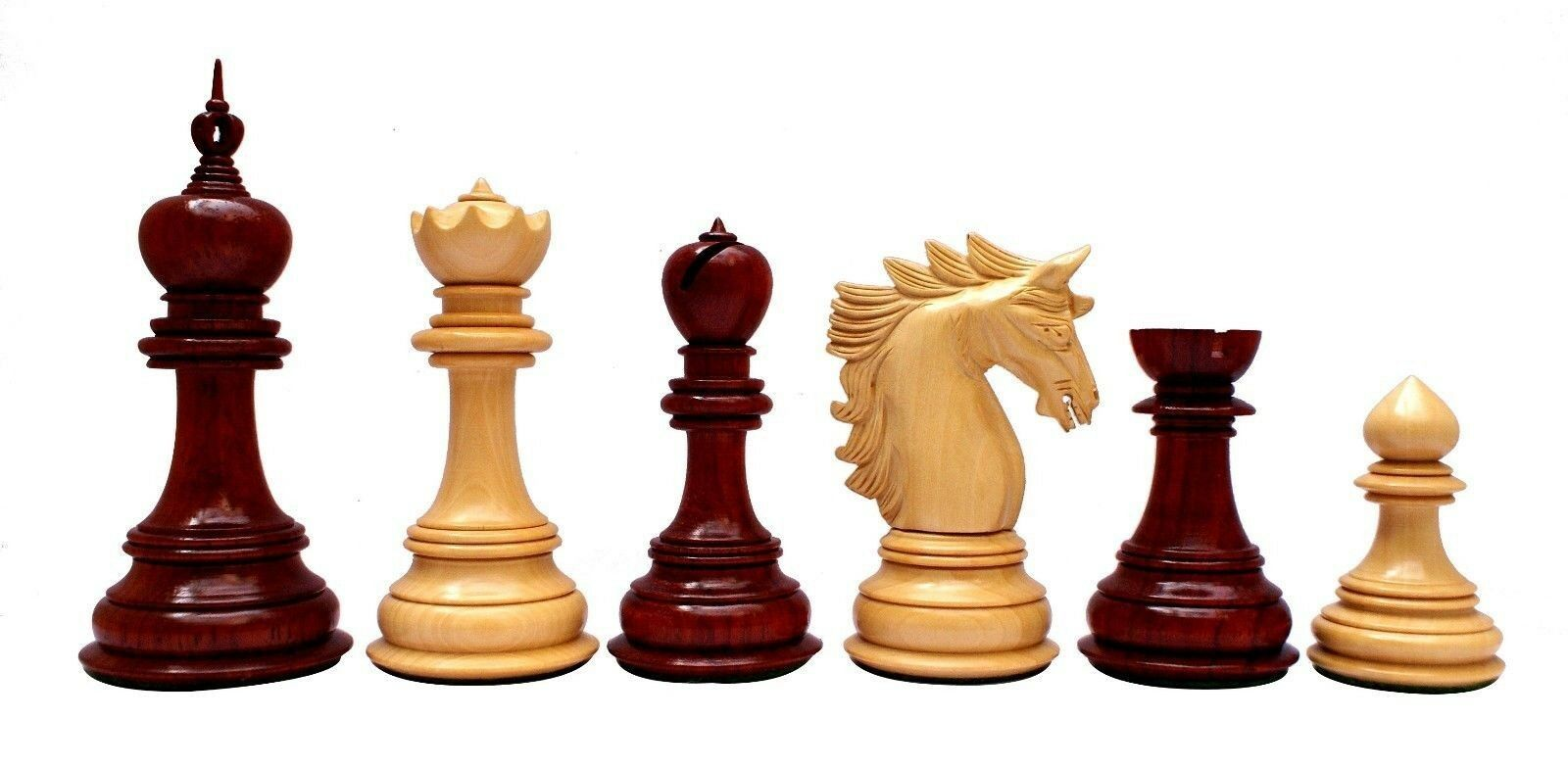 Chelics Series 4.5  Luxury Staunton Chess set in African Padouk and Box Wood