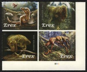 #5413a Tiranosaurio Rex, Placa Bloque [B1111 LR ], Nuevo Cualquier 5=