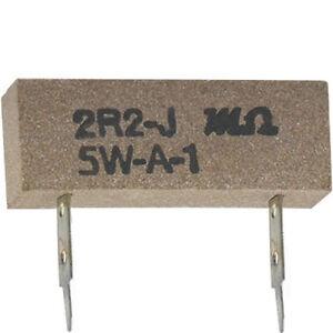 10-Stueck-Hochlast-Drahtwiderstand-2-2-Ohm-5-Watt-RM-17-5-mm-ohne-RoHS
