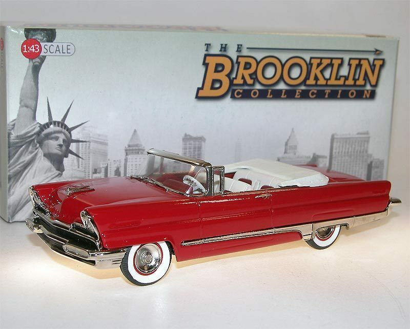 Brooklin models BRK 212 - 1956 Lincoln Premiere Convertible rouge 1 43 blanc Metal