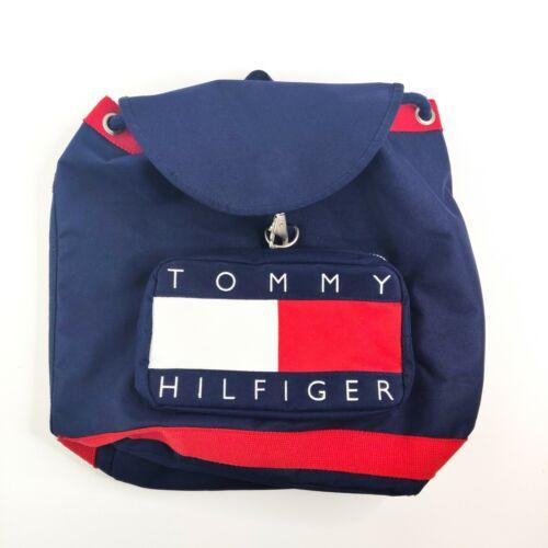 Vintage 1990s Tommy Hilfiger Backpack Nap Sack Tot