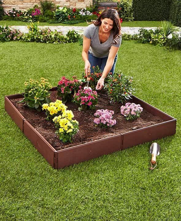 Plantador de cama elevada Jardín Al Aire Libre Hágalo usted mismo