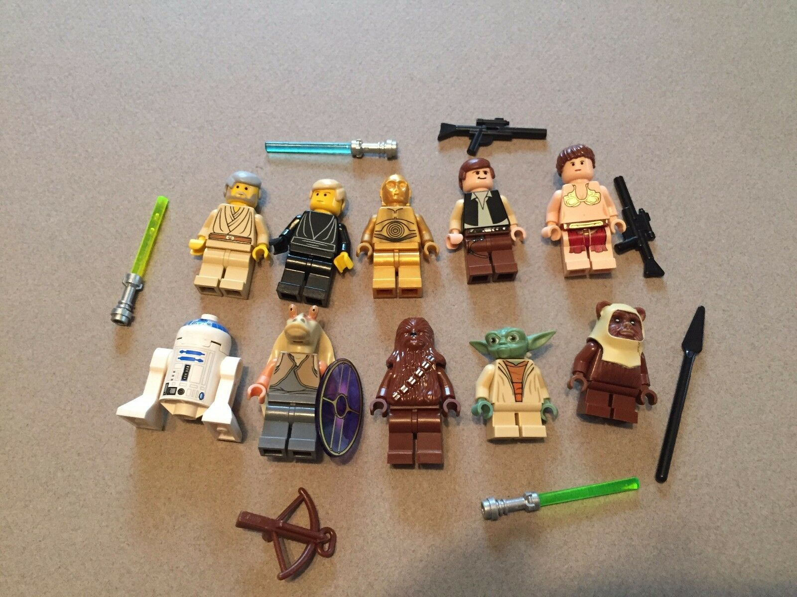LEGO lot of 10 Star Wars Good Good Good Guy Minifigs Yoda Luke Leia Han R2-D2 Chewie Z311 cc92b0