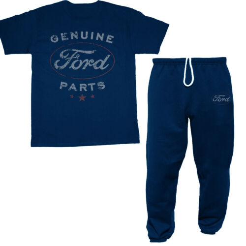 Ford sweatpants t-shirt set gift idea for him mustang racing trucks mechanic