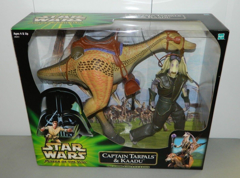 Nib Star Wars Power Of The Jedi Kapitän Tarpals und Kaadu Actionfigur 30.5cm