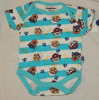 NEW Baby Paw Patrol One Piece Sizes 0 thru 12 Month Blue Rubble Marshall Chase