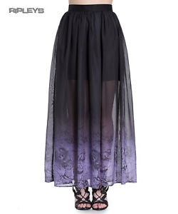 Hell-Bunny-Spin-Doctor-Goth-Purple-Mystical-EVADINE-Maxi-Skirt-All-Sizes