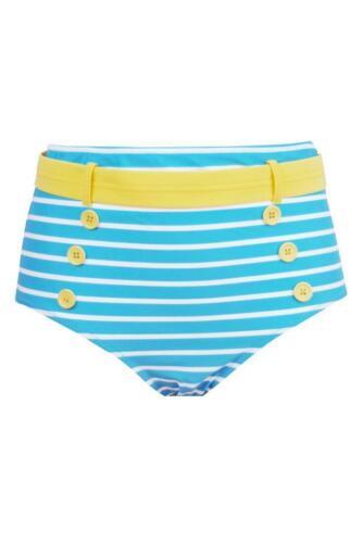 Pour Moi Dritta Vita Alta Controllo Slip Bikini 68014 Turchese Lemon WM