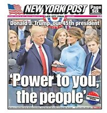 2 PAPERS NEW YORK POST - NEW YORK DAILY NEWS  1/21/17