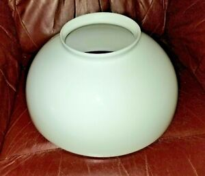 """14"""" White Milk Glass Shade - Lamp Fixture Globe 14"""" Fitter and 6"""" Top Opening"""