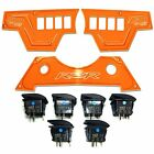 Orange 3 Pc Polaris RZR XP1000 900S Dashboard Panel Rocker Switches 2015 2016