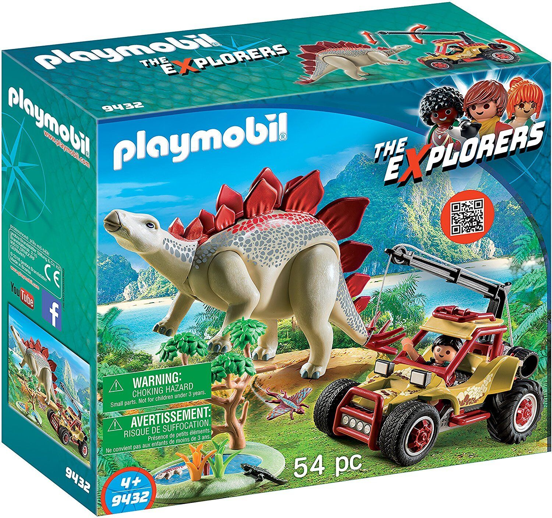 Playmobil das Entdecker 9432 - Fahrzeug Explorer mit Stegosaurus. más 4 Jahre
