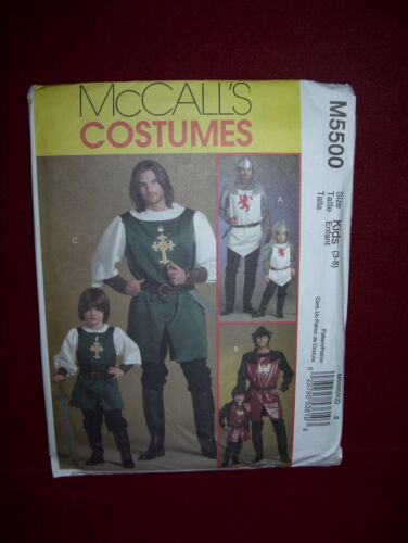 UNCIRCULATED McCALL/'S #M5500-MENS or BOYS RENAISSANCE KNIGHT COSTUME PATTERN  FF