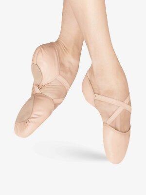 C /& D Widths Bloch #ES0250L Elastosplit Pink Leather Ballet Shoes B NIB
