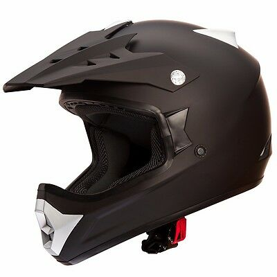 IV2 MATTE BLACK High Performance ATV UTV MOTOCROSS STREET BIKE HELMET [DOT]