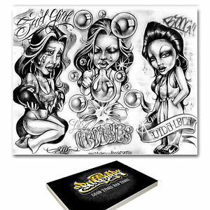 Details About 88 X A3 Boog Tattoo Flash Designs Brand New Factory Sealed Rrp 120