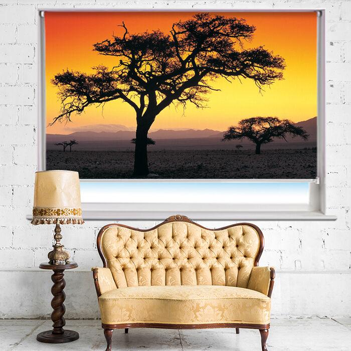 Dusk in Namibia African Landscape Sunset Printed Picture Roller Blind