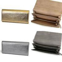 Another Line By Lodis Metallic Leather Wallet Clutch Gold Or Silver $98 Free S&h