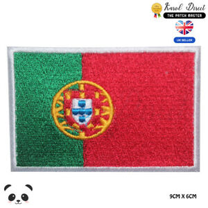 Portugal-National-Flag-Embroidered-Iron-On-Sew-On-Patch-Badge-For-Clothes-etc