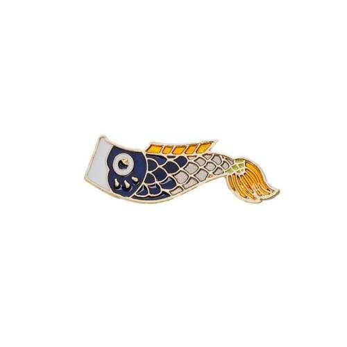 Enamel Pins Nishikigoi Japanese Fish Koi Fish Pin Retro Bijoux Jewelry Decors LA