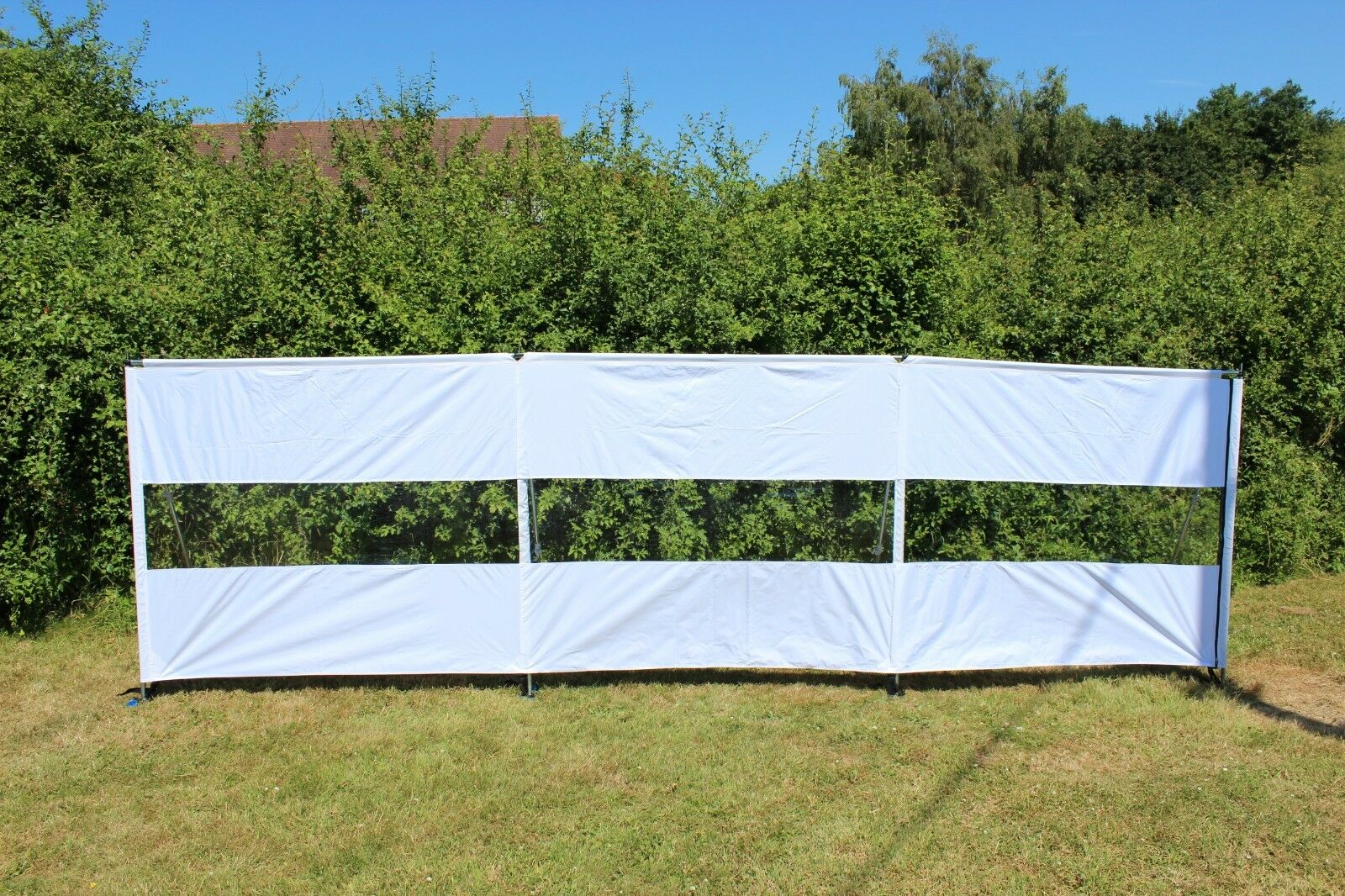 Windbreak With Window Steel Pole White Compact - Free Extra  Panel  quick answers