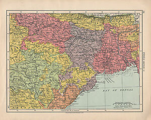 1925 map india section 1 bihar orissa central provinces assam ebay image is loading 1925 map india section 1 bihar orissa central gumiabroncs Image collections