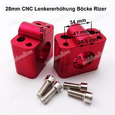 28mm CNC Lenkererhöhung Böcke Rizer Lenker Adapter für Motocross Pit Dirt Bike
