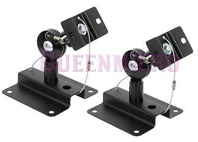 2 PC Pack Heavy Duty Steel Adjustable Speaker Ceiling Wall Mount Brackets 33 lbs
