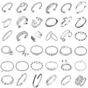 Elegant-925-Silver-Cuff-Bracelet-Bangle-Chaine-Bracelet-Women-Fashion-Jewelry