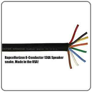 8-conductor-4-channel-13-GAUGE-PA-DJ-raw-speaker-cable-sold-by-the-foot-US-MADE